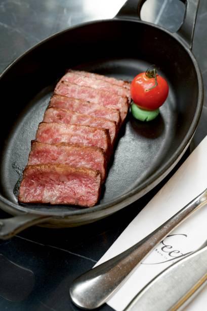 Bife de chorizo grelhado: com wagyu japonês