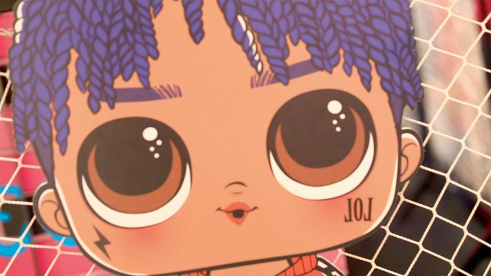 Foto de um desenho de uma boneca personagem LOL Surprise