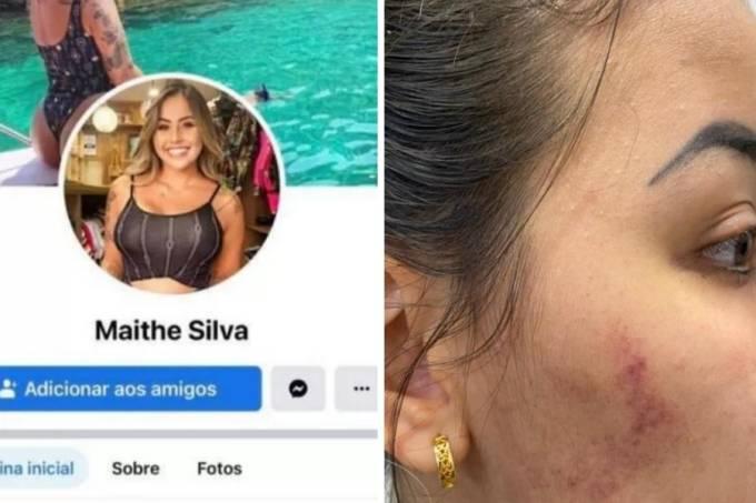 Maithê Fernandes agressão perfil fake
