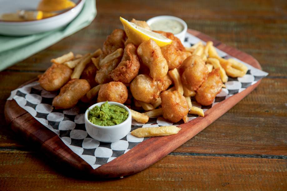 Porção de fish and chips: em diferentes tamanhos