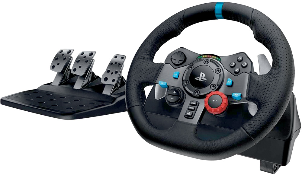 Volante e pedais de videogame da PlayStation