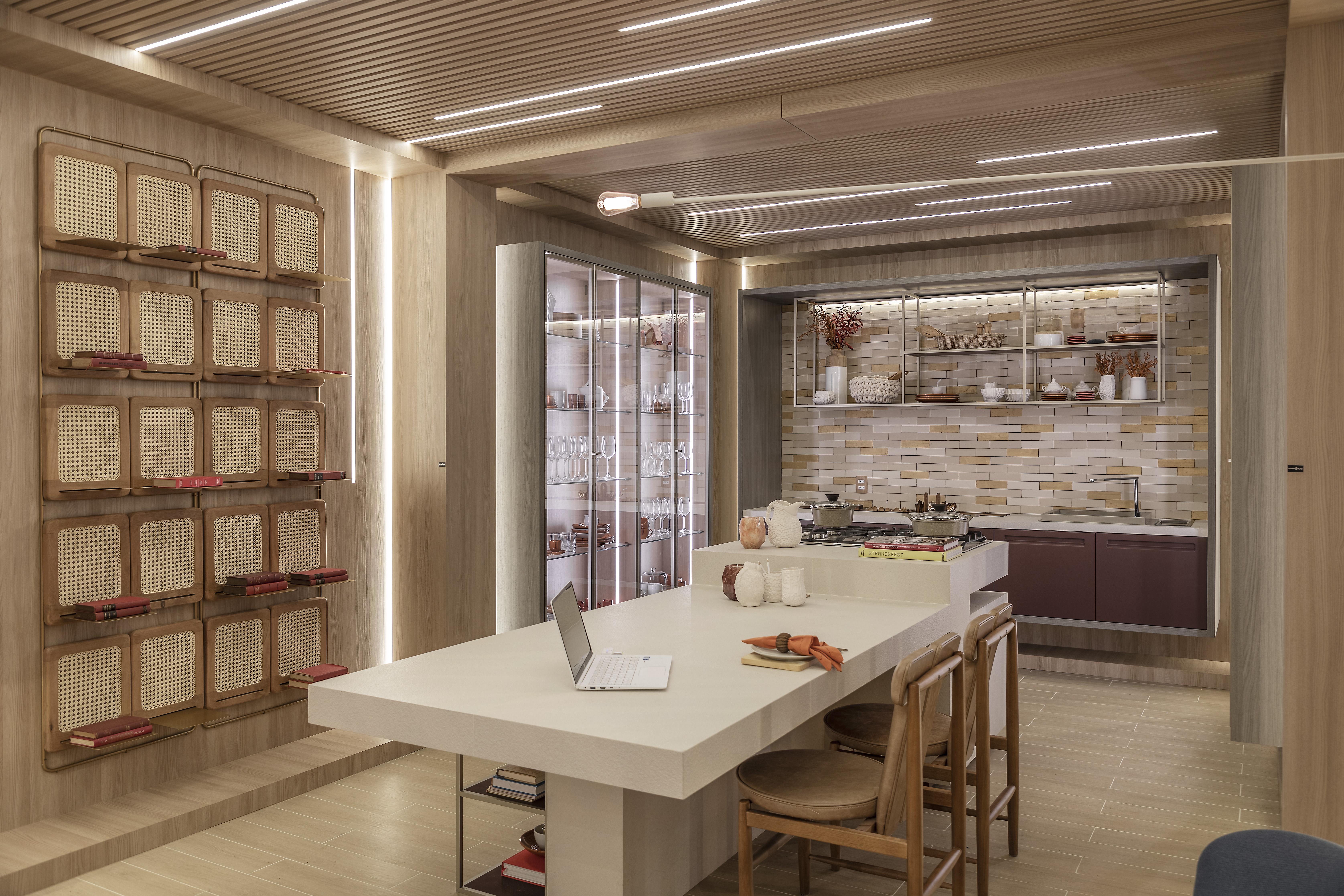 O Estúdio Conexão, coliving proposto por Barbara Jalles para a CASACOR São Paulo 2019.