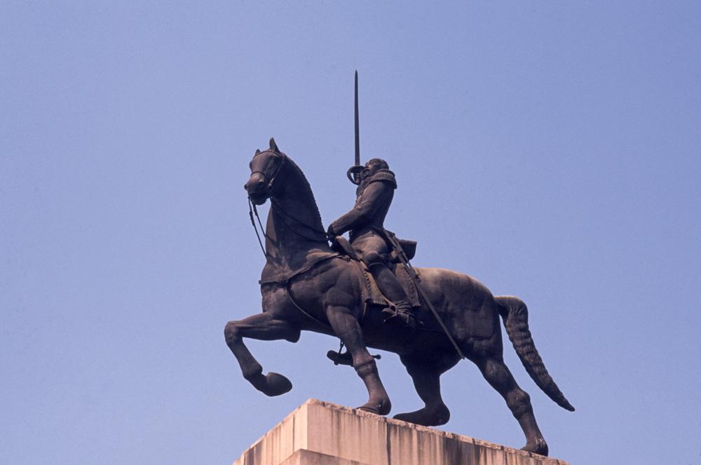 estátua de Duque de Caxias, na Praça Princesa Isabel