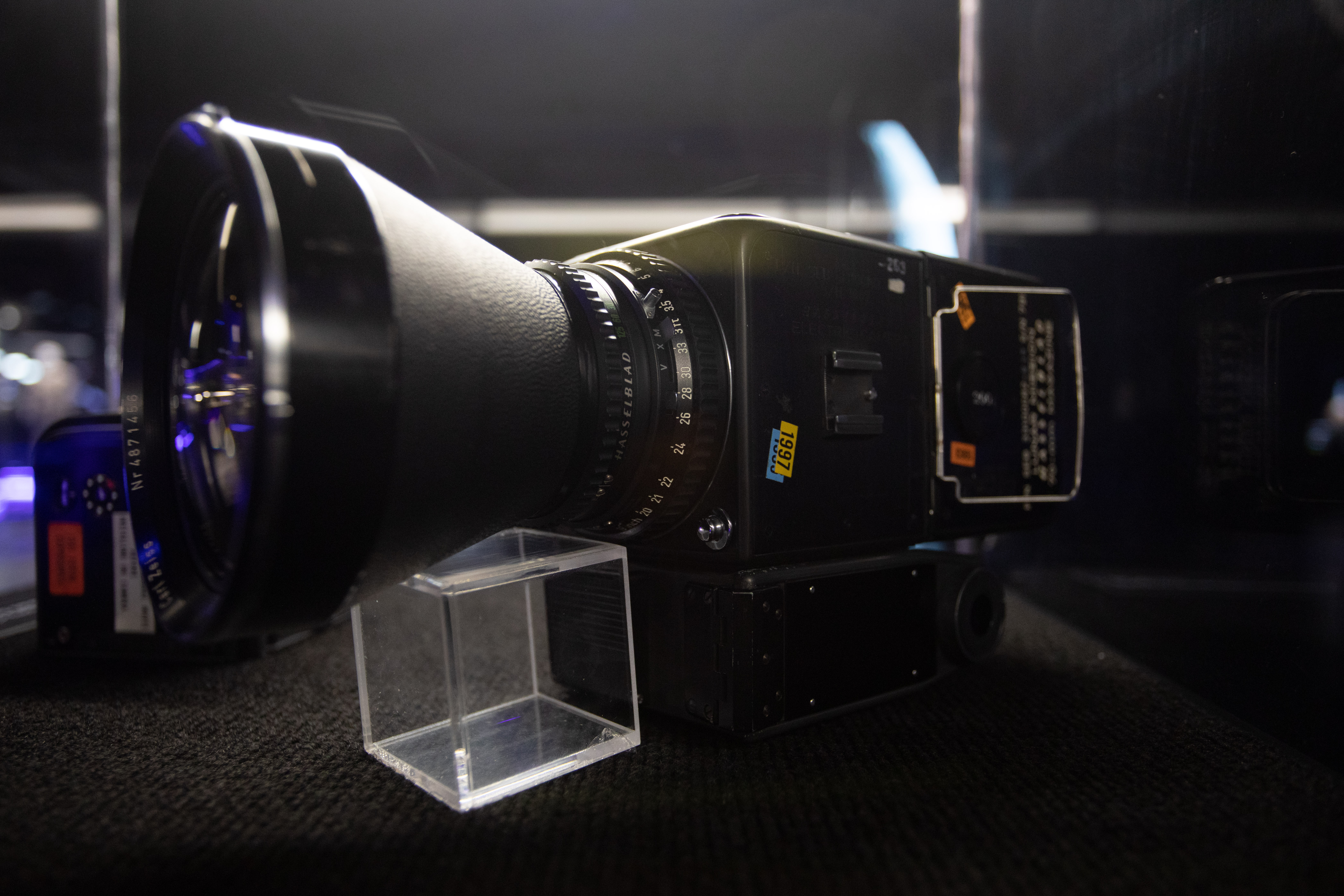 Câmera espacial preta aparece na foto.
