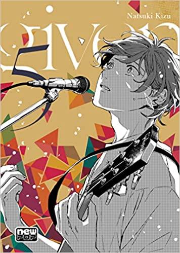 Capa do livro Given. Tem a ilustração de um garoto cantando e tocando guitarra