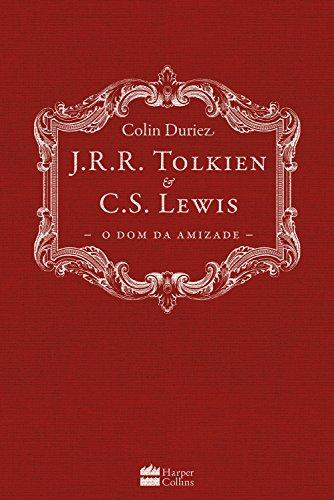Capa de J.R.R. Tolkien e C.S. Lewis: O dom da Amizade. Tem fundo vinho e o título em branco, além de uma moldura sobre o título