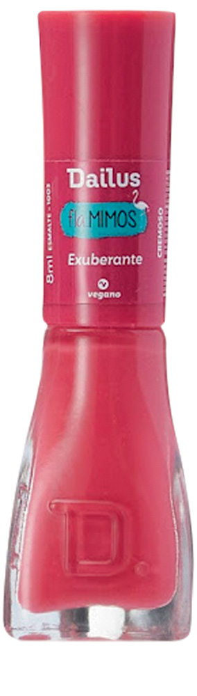 Esmalte rosa forte da Dailus. Embalagem toda rosa