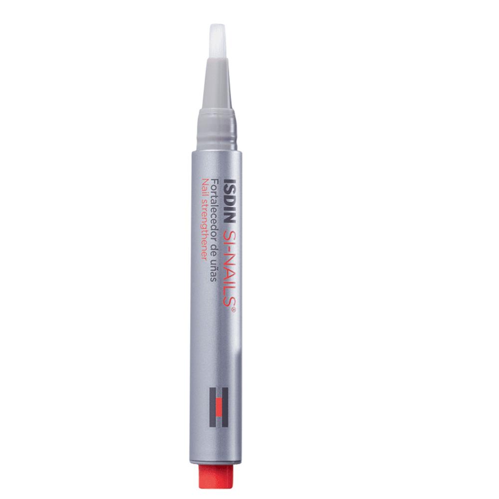 Produto parece uma caneta. É cinza com detalhes em laranja