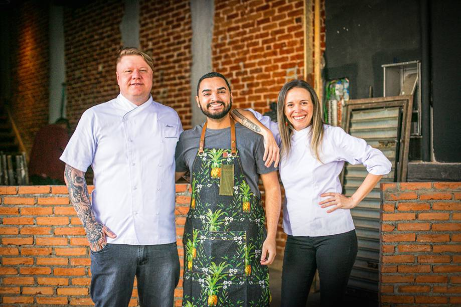 Alexandre Vorpagel, o Alemão, Felício e Laura: trio de sócios à frente do negócio