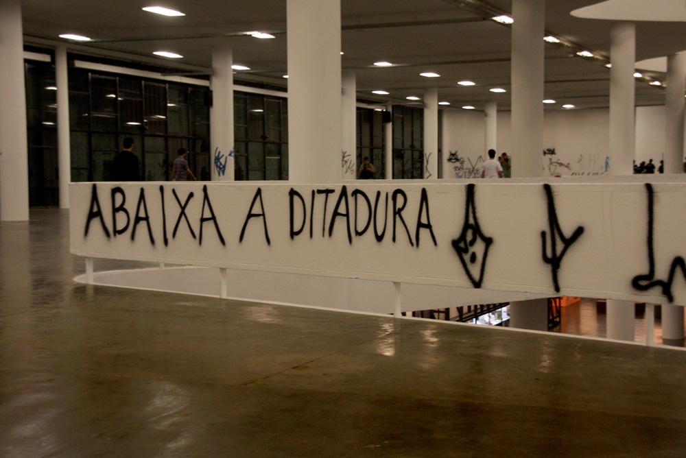 No pavilhão da Bienal de 2008, a frase