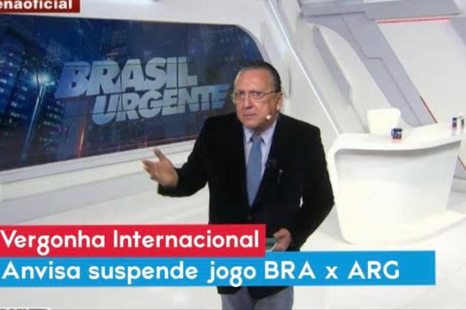 Galvão Bueno vira meme ao narrar confusão Argentina x Brasil (Poxawallace no Twitter)