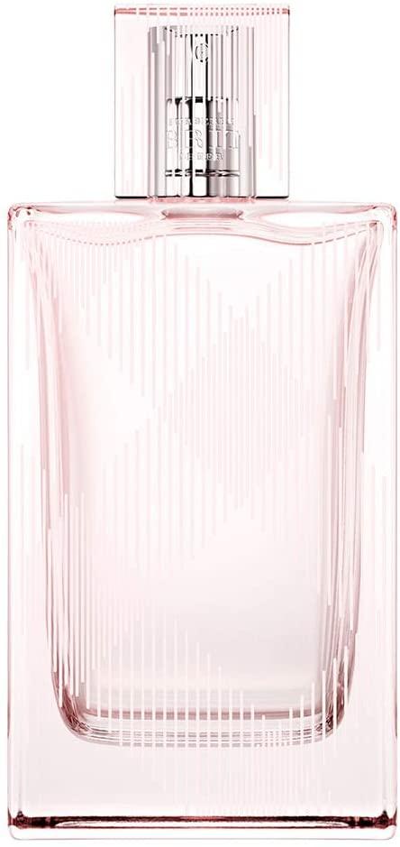 Frasco de perfume de vidro transparente todo rosa claro