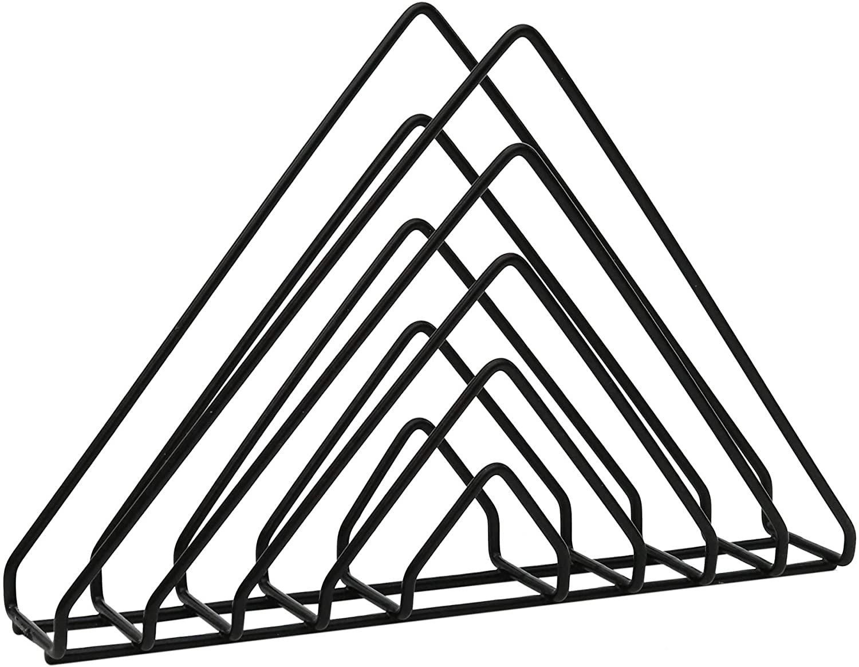 Em formato de triângulo, hastes do revisteiro são pretas