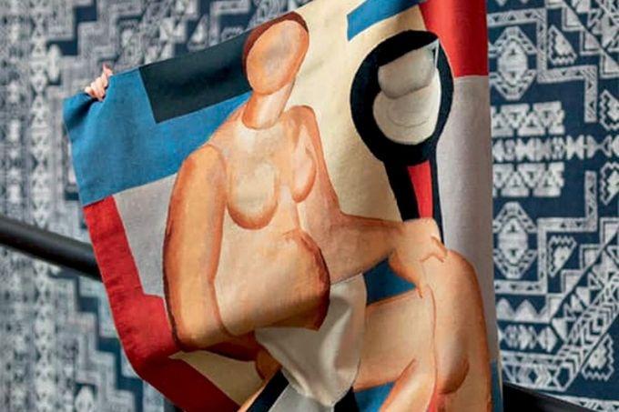 tapete-estampa-obra-estudo-tarsila-do-amaral-by-Kamy-tapeçaria-obras-de-arte