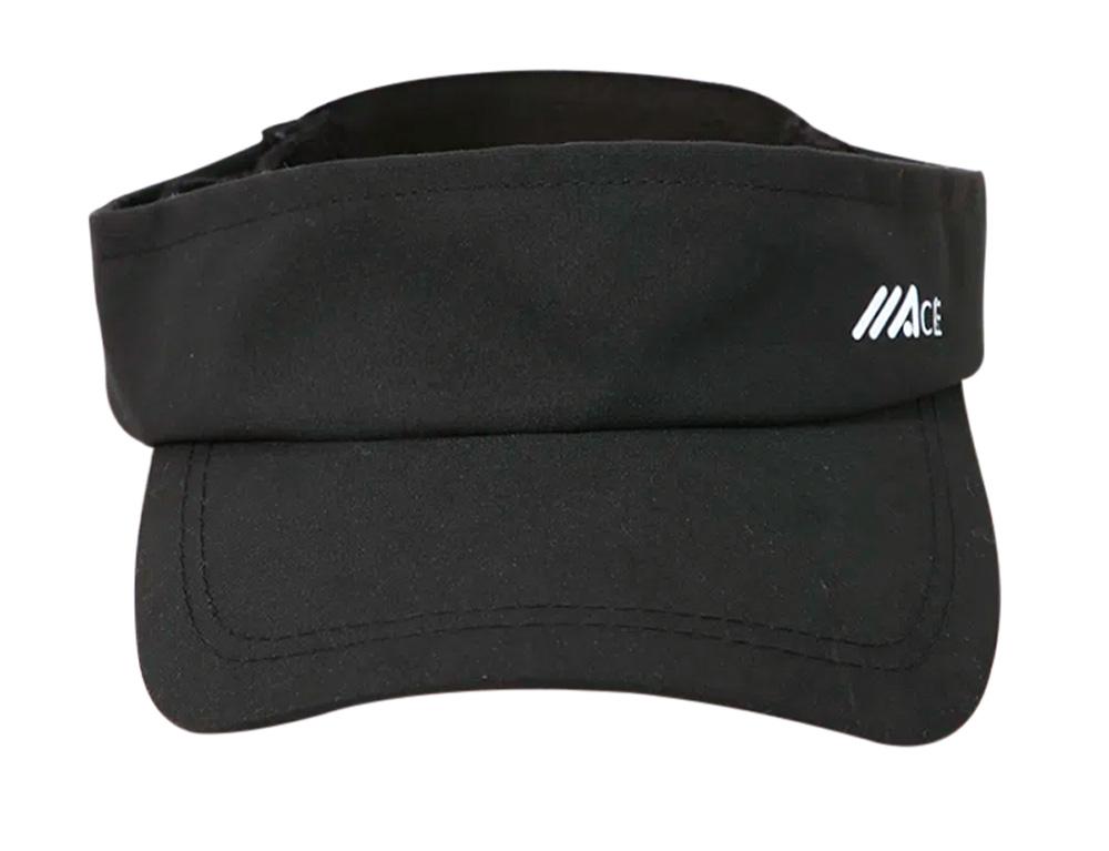 Uma viseira de aba torta preta com o logo da marca