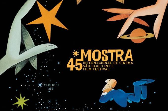 Cartaz da 45ª Mostra Internacional de Cinema de São Paulo, com arte de Ziraldo (Divulgação)