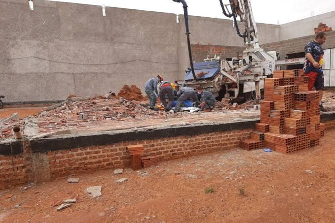 queda de muro em Tupã